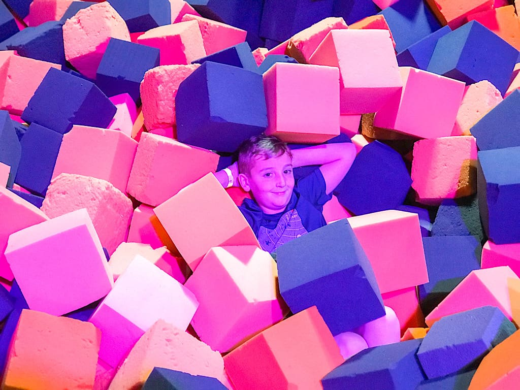 Foam Pit at Big Air Buena Park