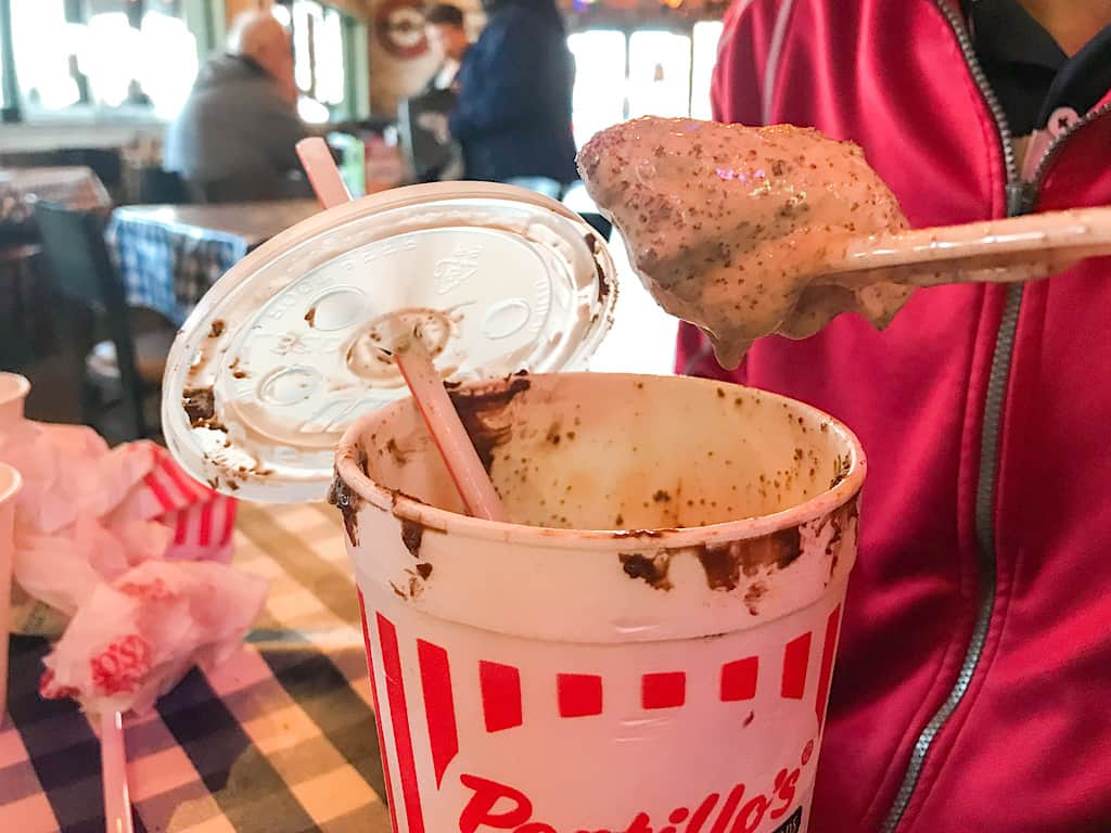 Chocolate Cake Shake from Portillo's in Buena Park California