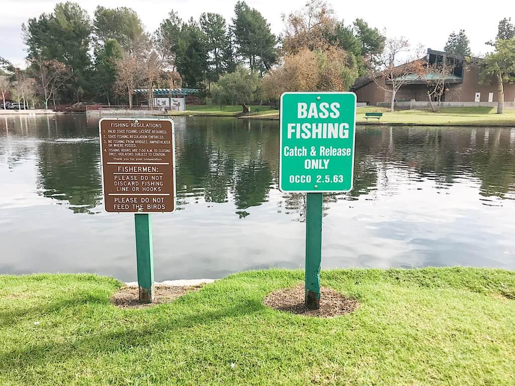 Fishing atRalph B Clark Regional Park