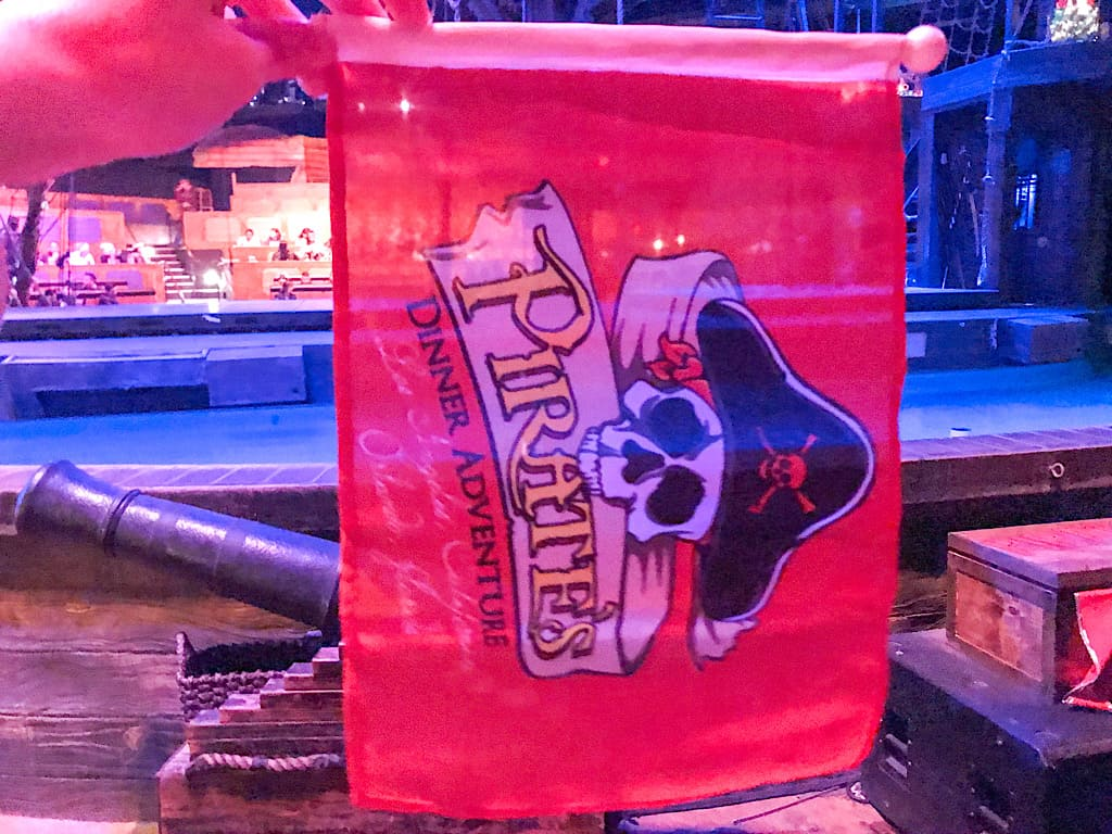 Red flag from Pirate's Dinner Adventure