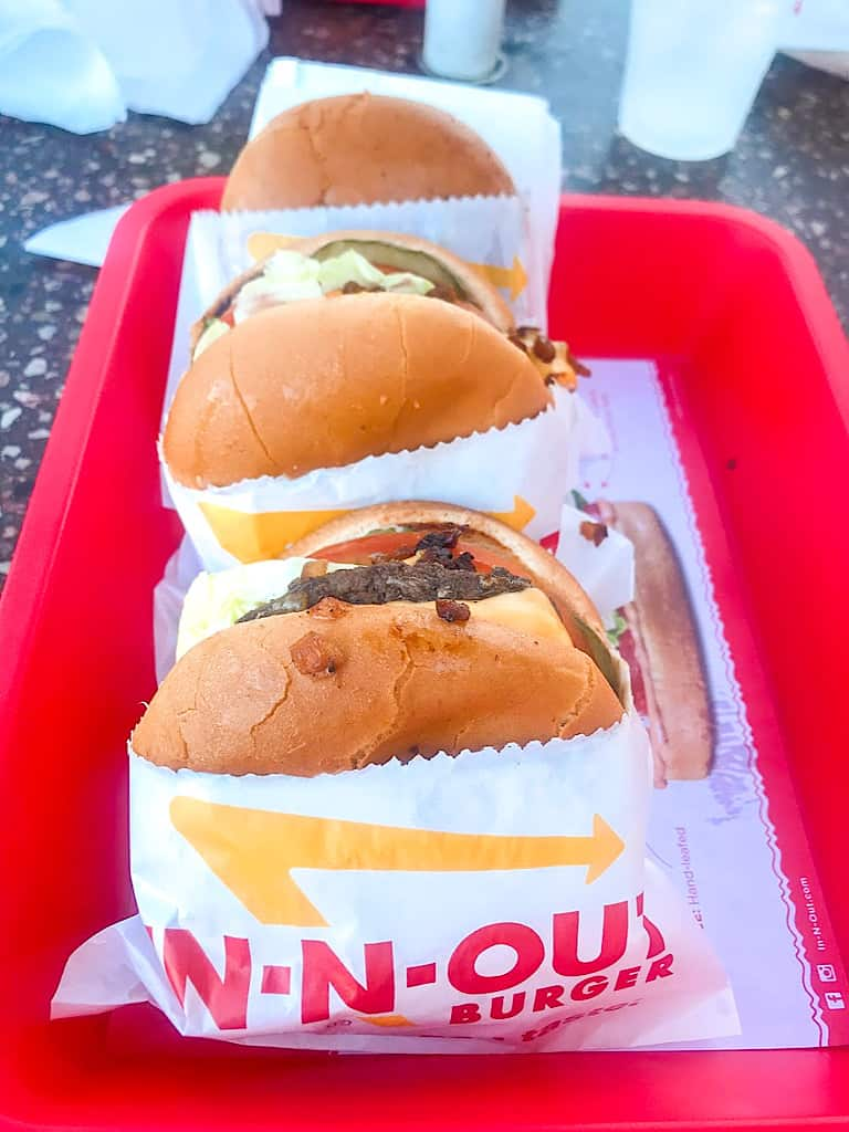 Cheeseburgers from In-N-Out in Orange County
