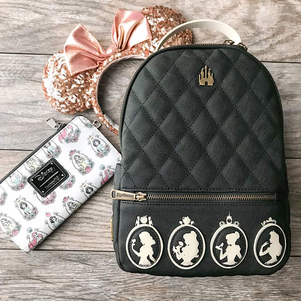 Princess backpack, wallet and Minnie Mouse Ears by Loungefly