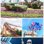 A collage of pictures of Disney World in April