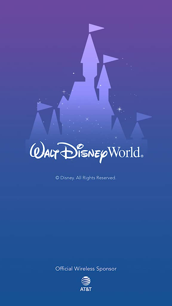 Screenshot of My Disney Experience App