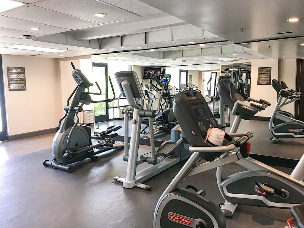 The fitness center at Knott's Berry Farm Hotel is larger than most hotels I've stayed at.