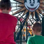 Two kids at Disney California Adventure