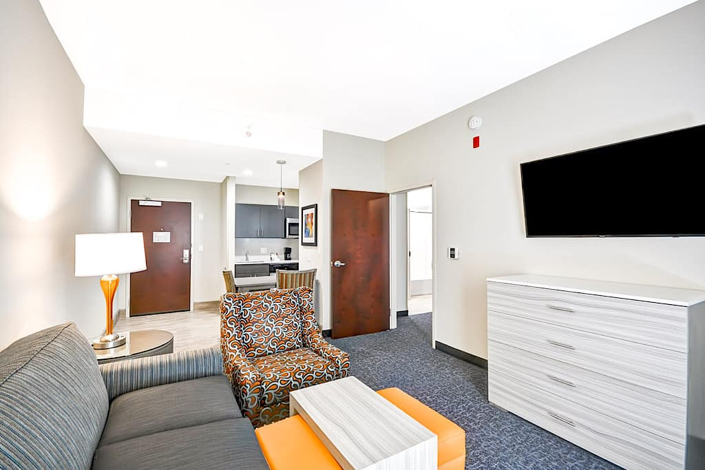 Living room of a suite at Homewood Suites Orlando Theme Parks