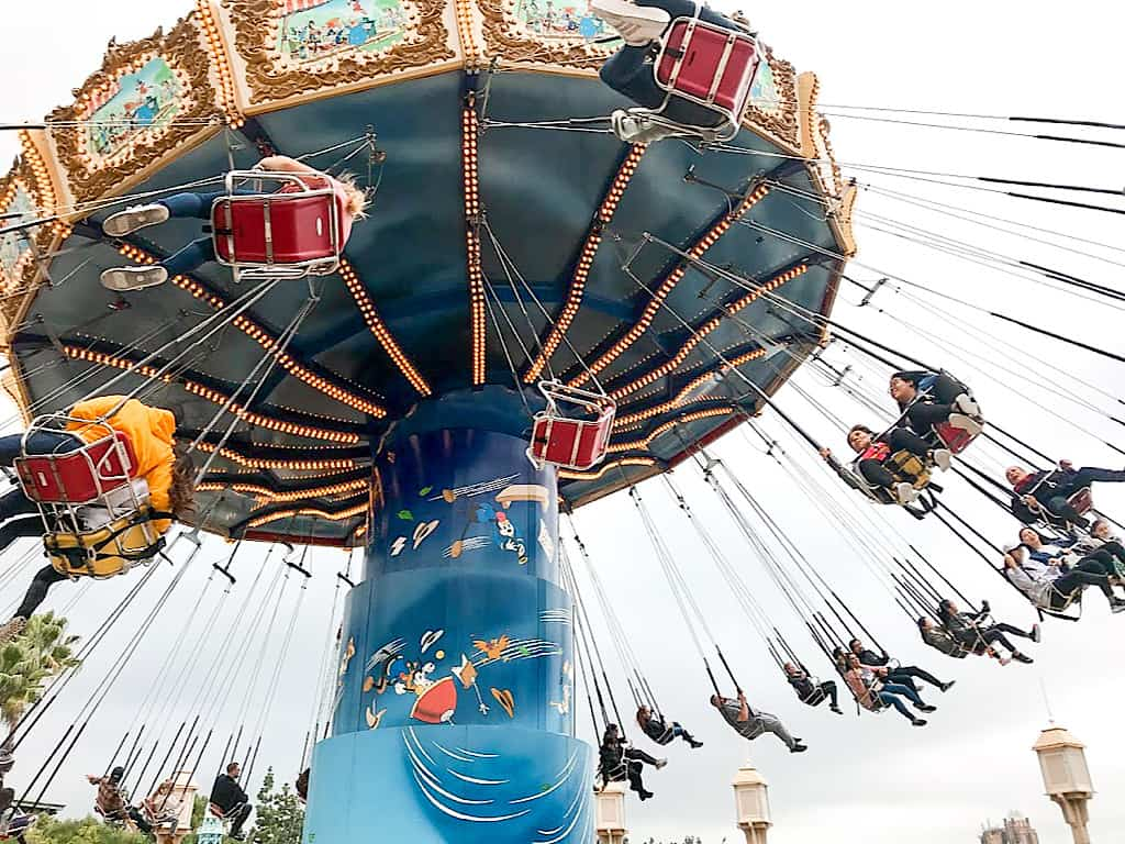 Silly Symphony Swings at Disney California Adventure