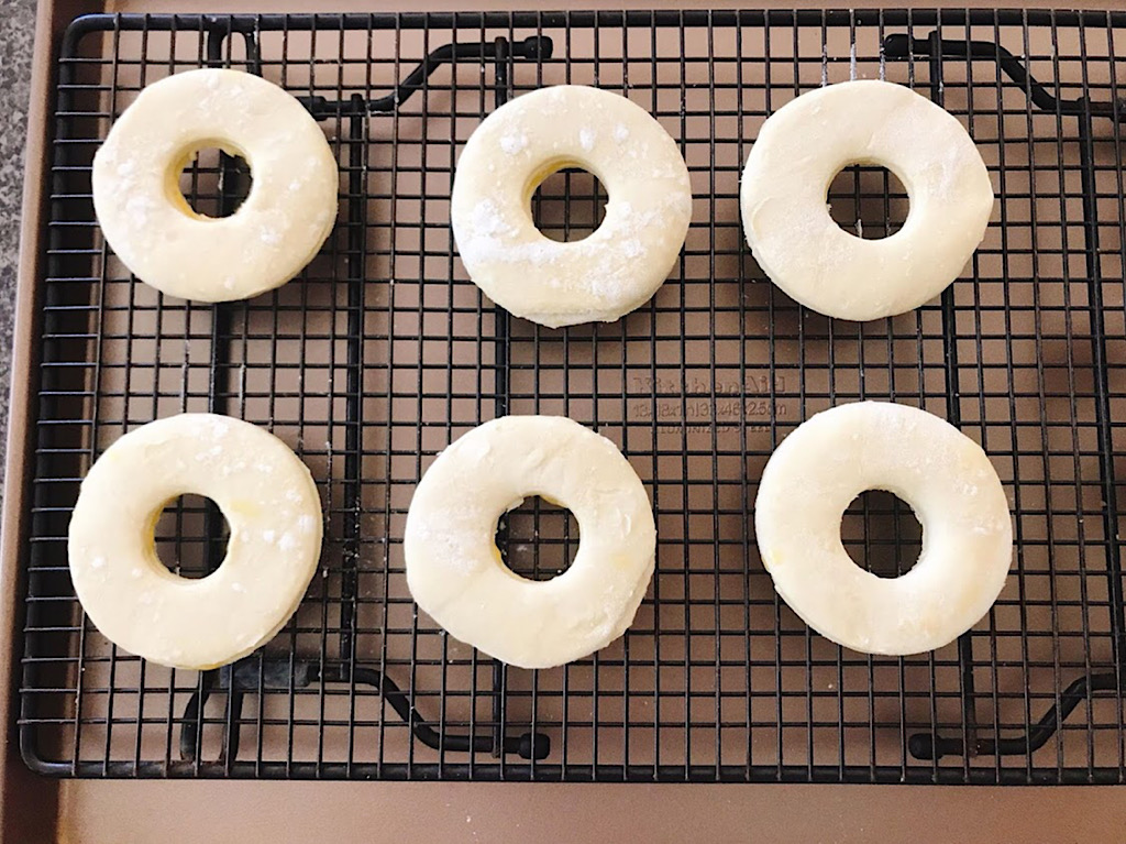 Cronuts ready to be fried