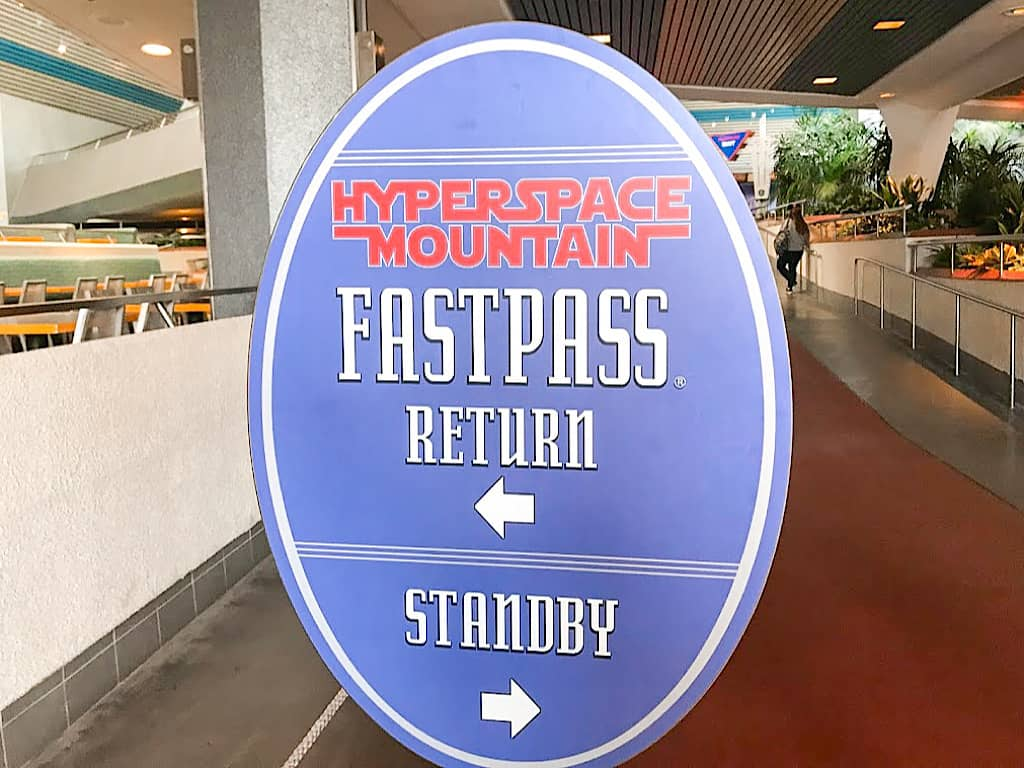 Space Mountain Fastpass Kiosk at Disneyland