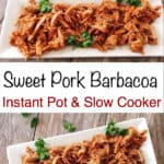 Sweet Pork Barbacoa Instant Pot & Slow Cooker