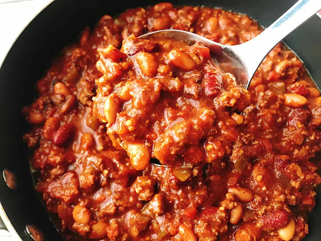 A Ladle full of Instant Pot Chili