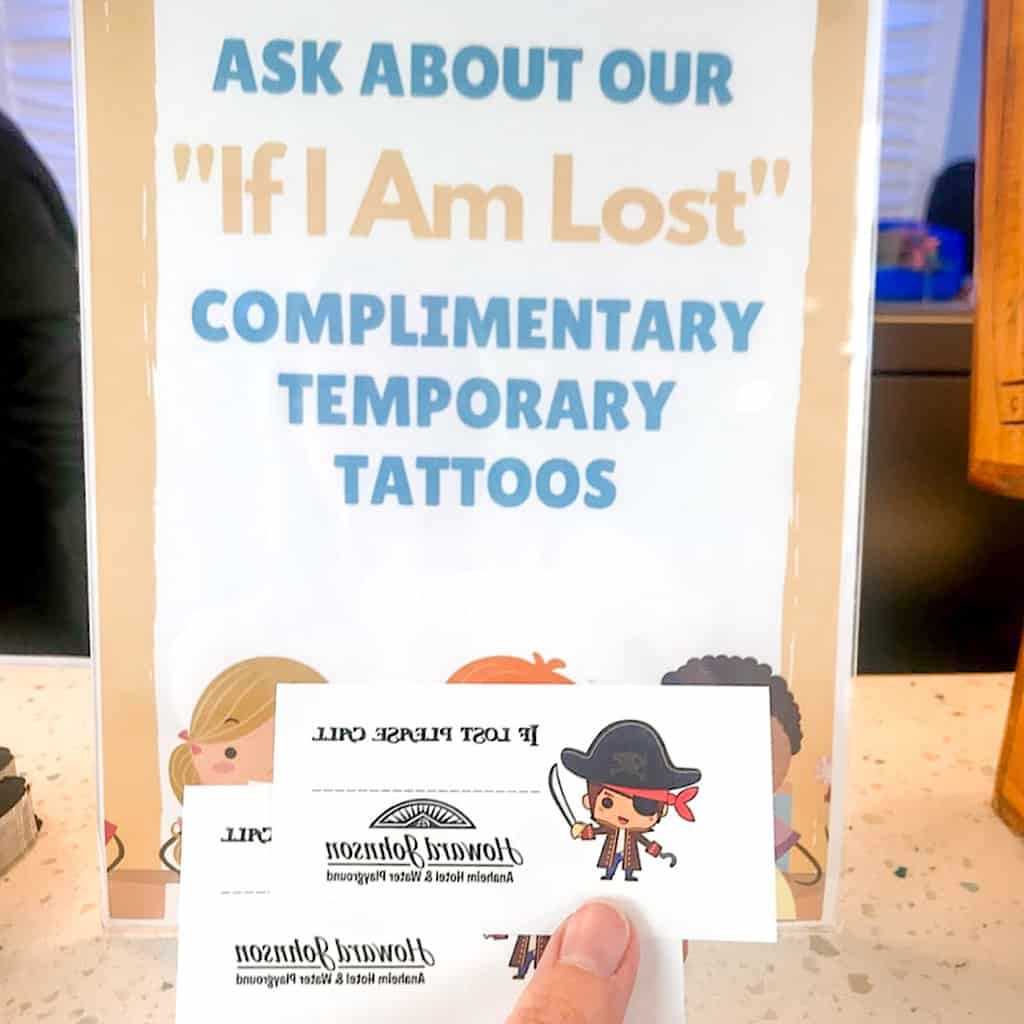 Temporary Tattoos for kids to wear to Disneyland