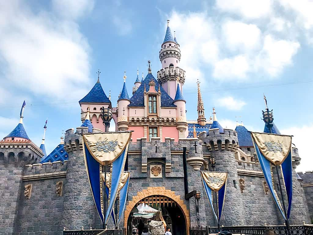 Sleeping Beauty Castle at Disneyland in California
