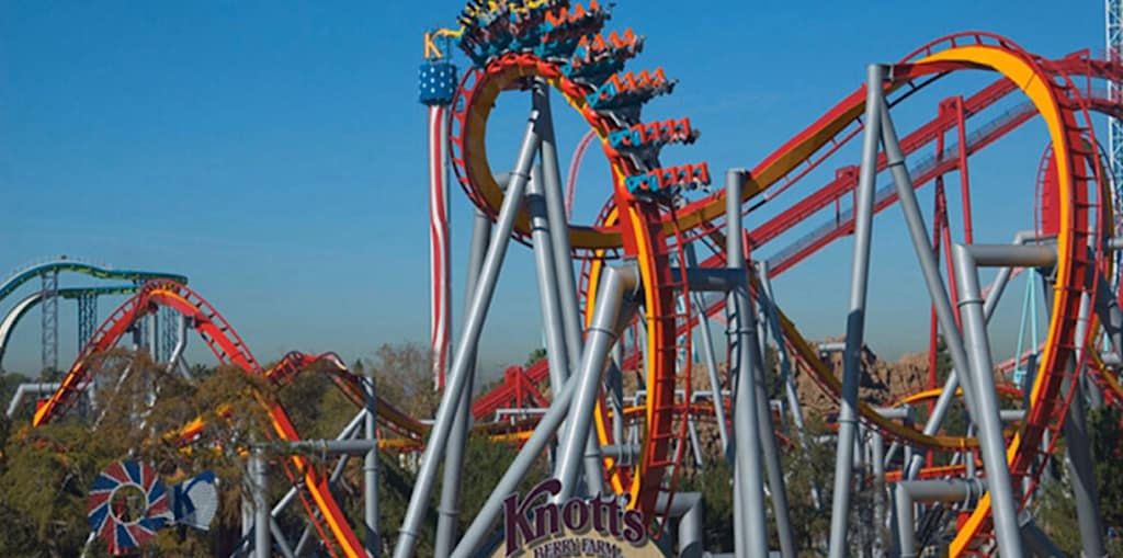 2 Tickets to Knott's Berry Farm Hotel with Transportation