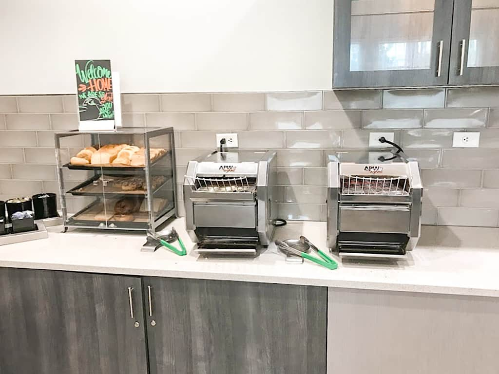 Free breakfast at Homewood Suites Orlando