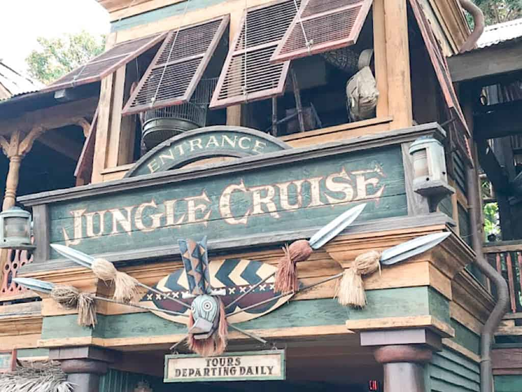 Jungle Cruise entrance at Disneyland in California