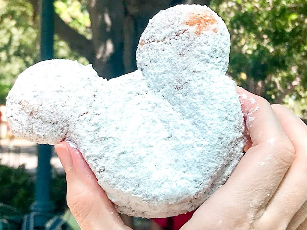Mickey Beignet from Mint Julep Bar at Disneyland