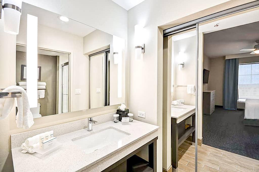 Bathroom in a suite at Homewood Suites Orlando