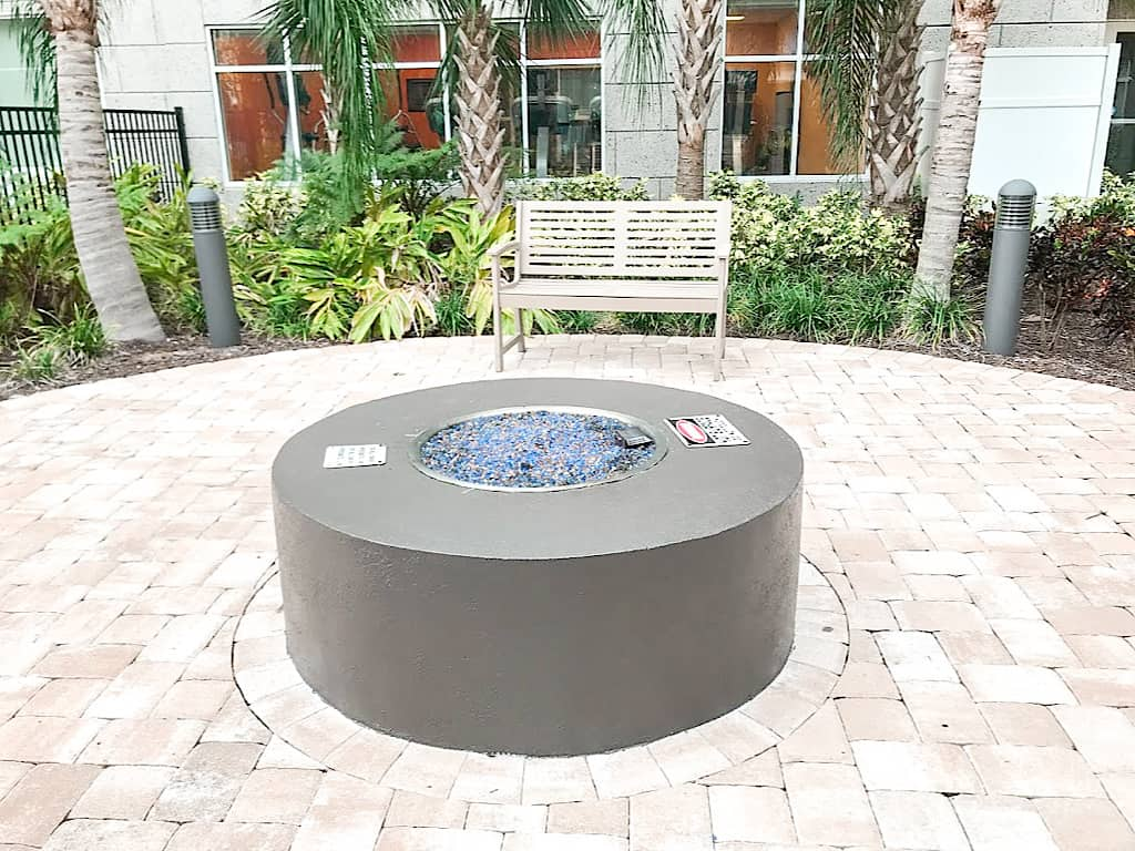 Outdoor Fire Pit at Homewood Suites Orlando