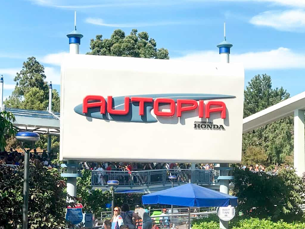 Autopia in Tomorrowland at Disneyland