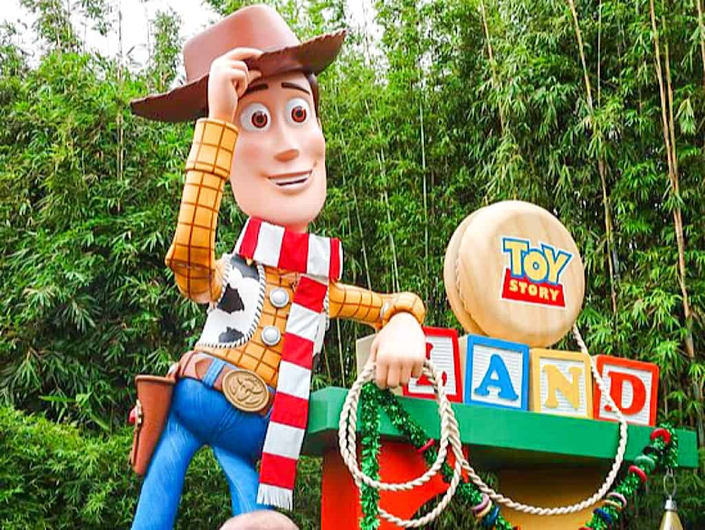 Woody at Toy Story Land in Florida