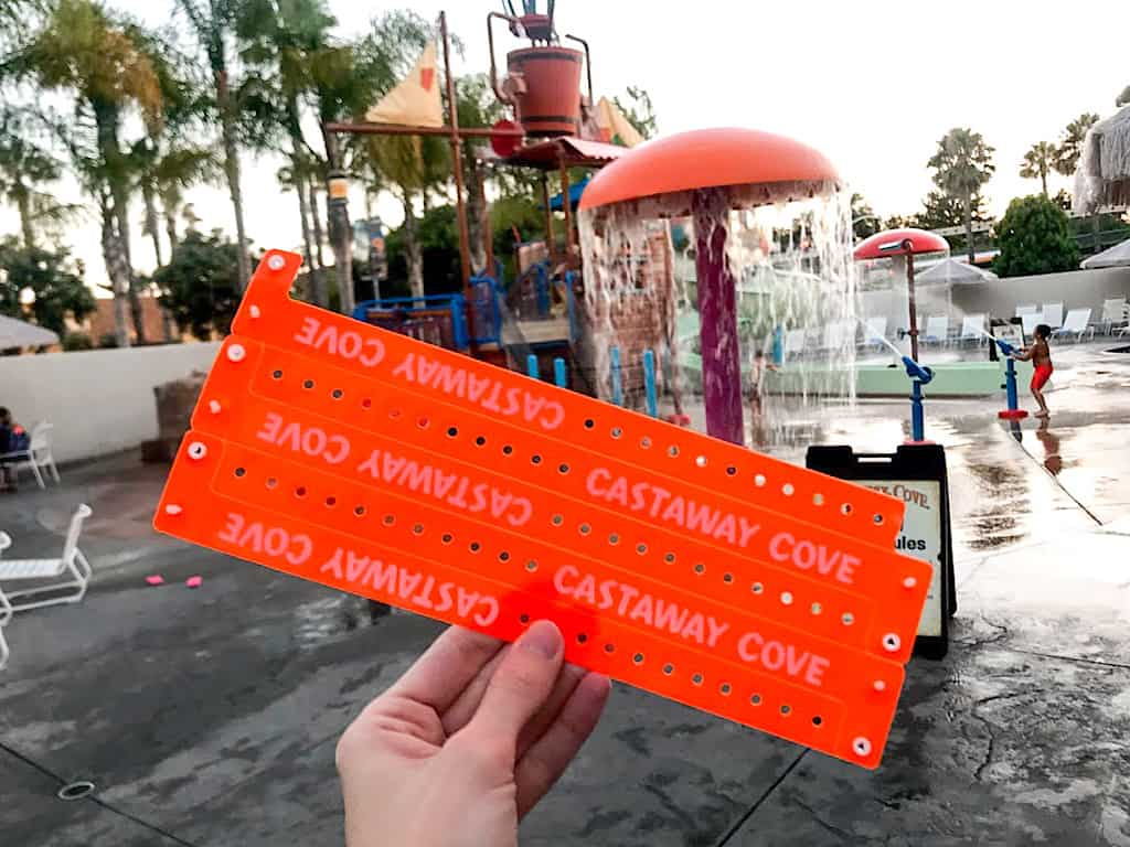 Wrist bands for Castaway Cove at Howard Johnson Anaheim