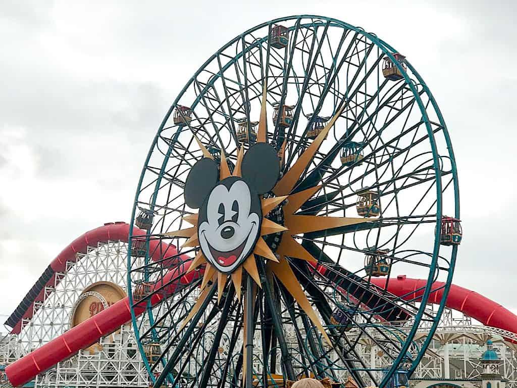 Pixar Pal Around ferris wheel at Disneyland California Adventure