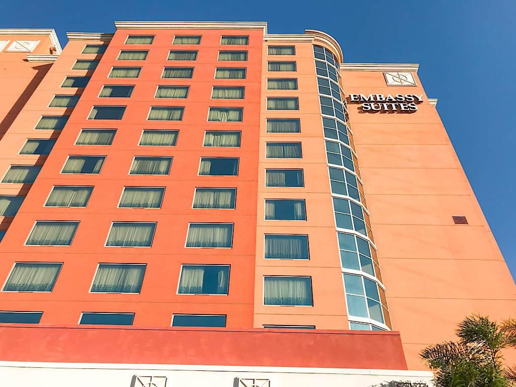 Outside view of Embassy Suites Anaheim South