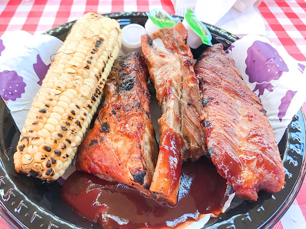 Ribs and corn on the cob from Knott's Berry Farm