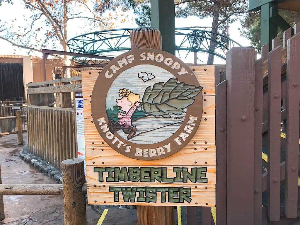 Timberline Twister at Camp Snoopy Knott's Berry Farm with Kids