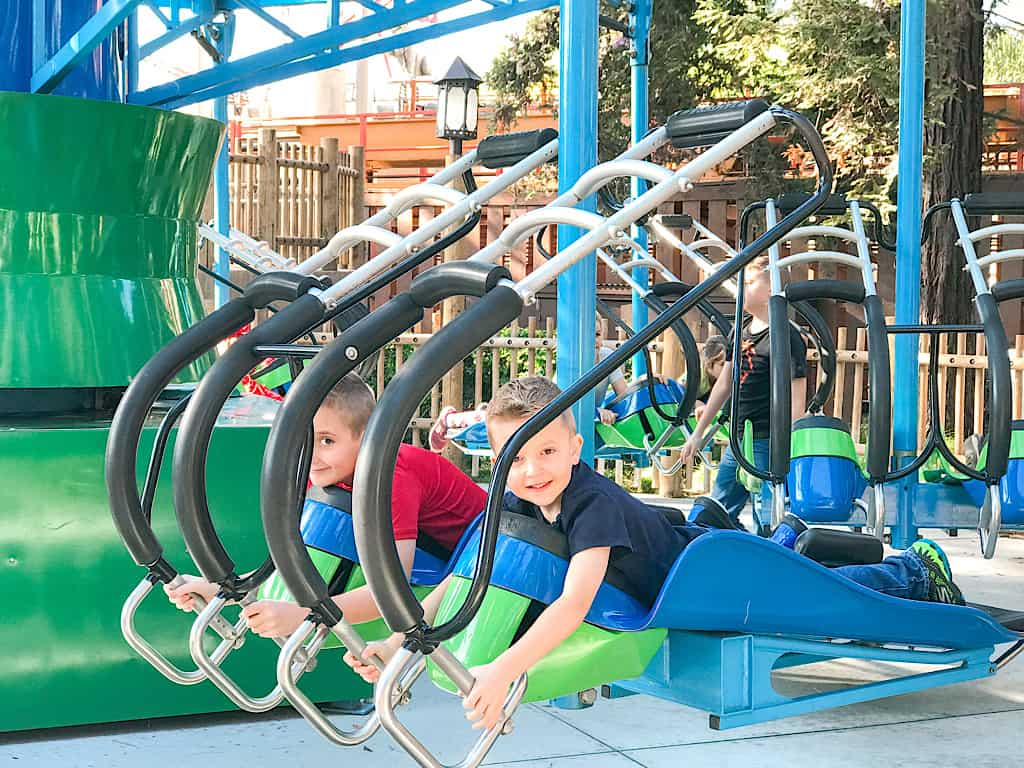 Linus Launcher ride for kids at Knott's Berry Farm