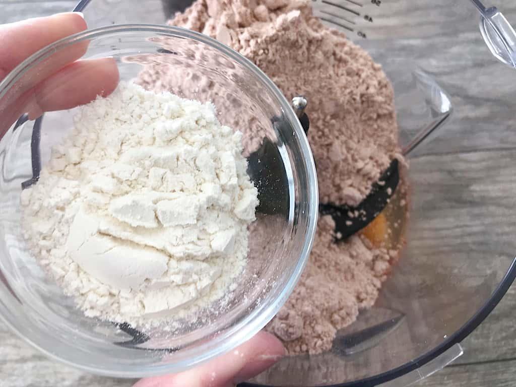 Flour added to cake mix waffle batter