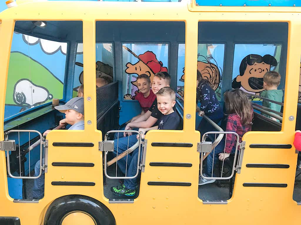 Camp Bus at Knott's Berry Farm with Kids