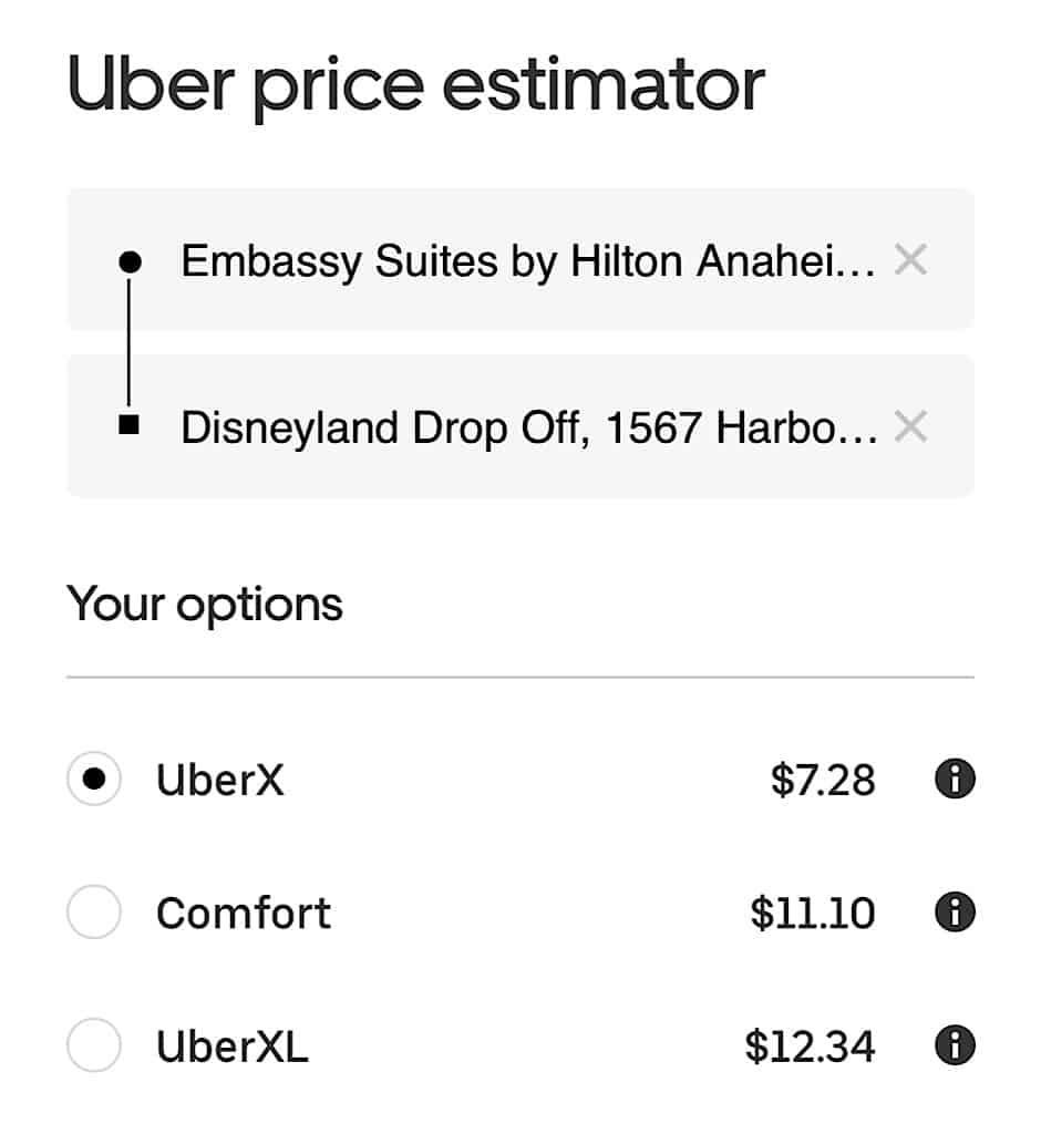 Uber Price Estimator