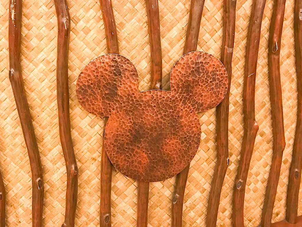 Hidden Mickey in the lobby of Embassy Suites