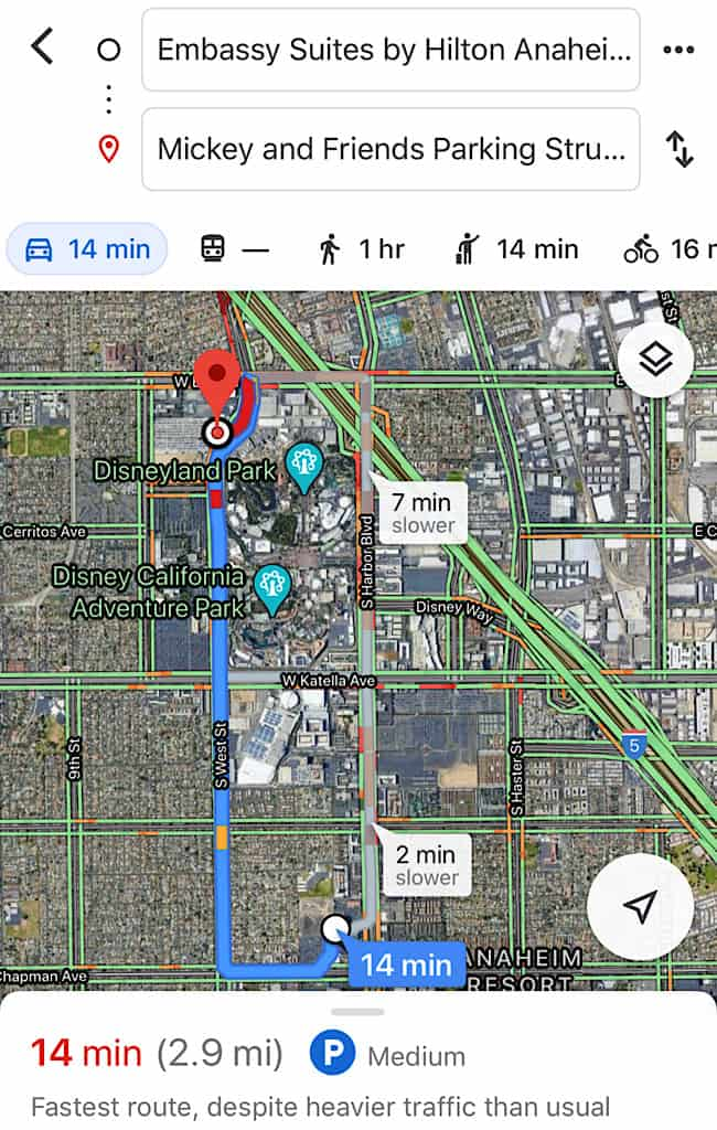 How to get to Disneyland from Embassy Suites Anaheim South