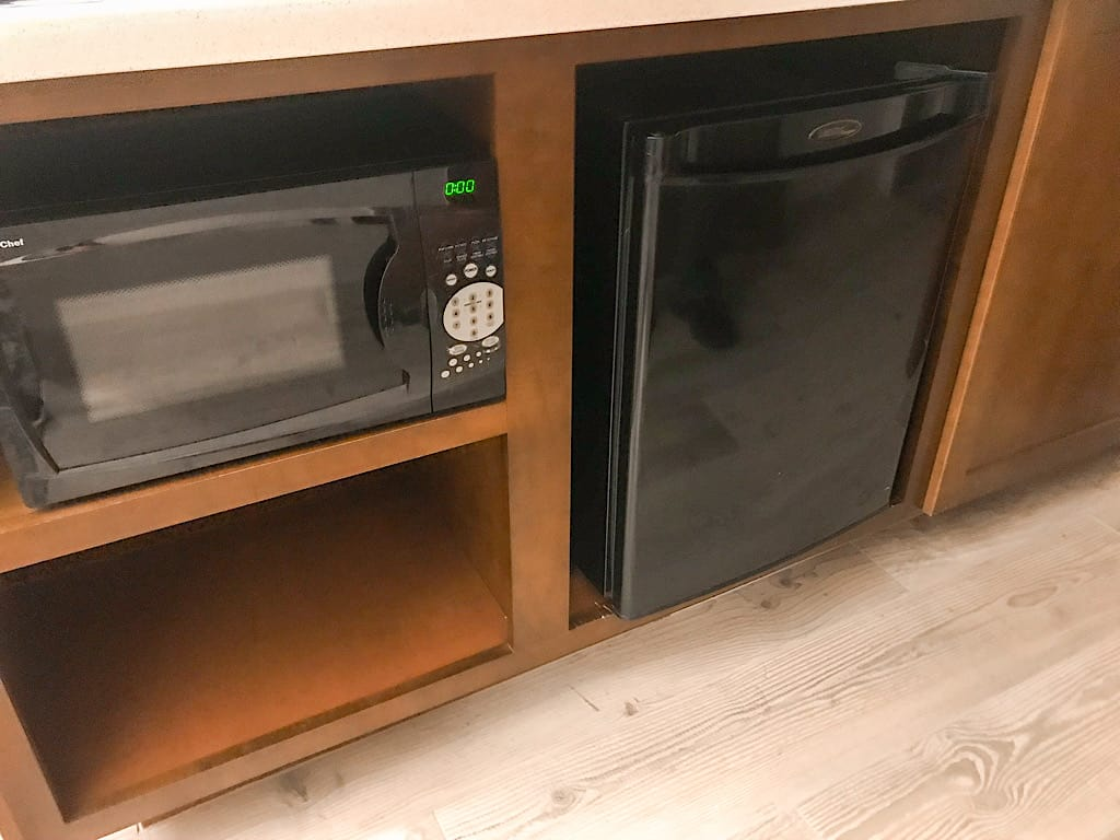 Microwave and Refrigerator in a Suite at Embassy Suites Anaheim South Review