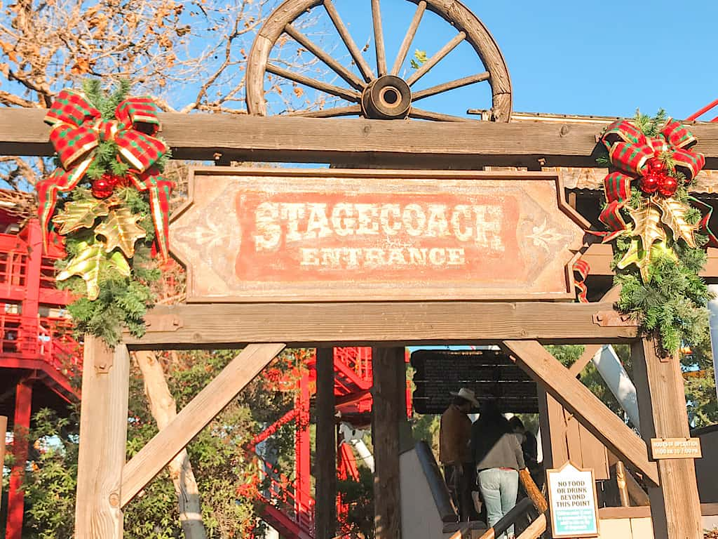 Stagecoach ride at Knott's Berry Farm