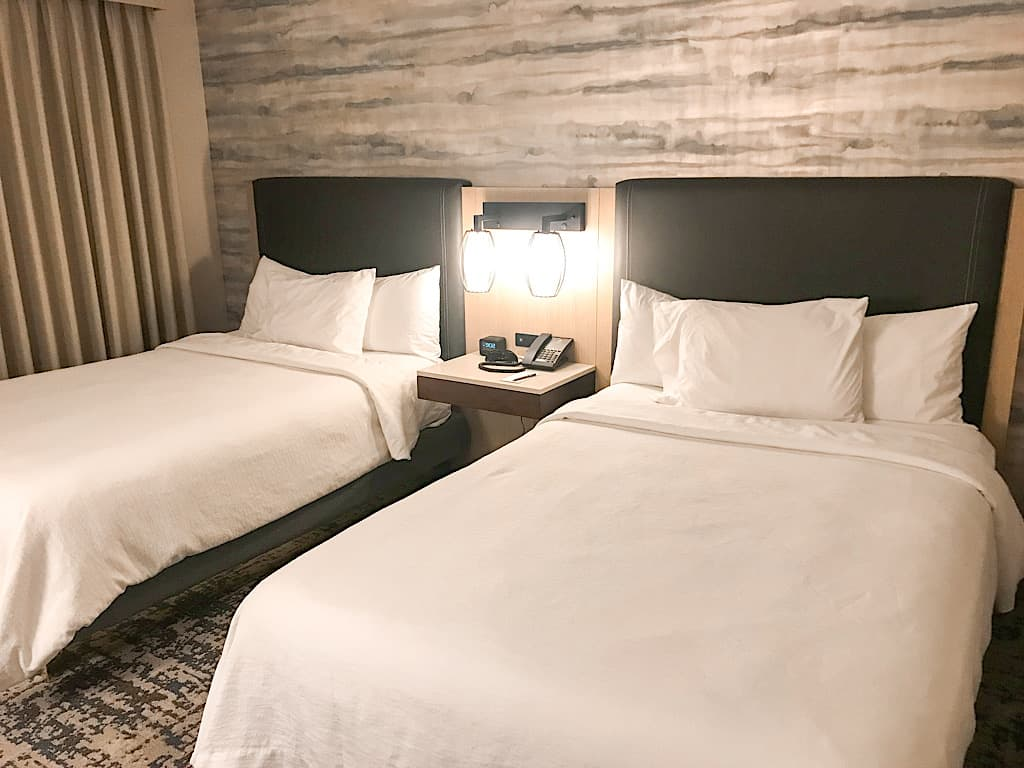 Two double beds suite at Embassy Suites near Disneyland