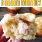 Cream Cheese Stuffed Banana Muffins