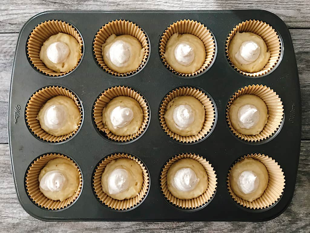 Cream filling for banana muffins