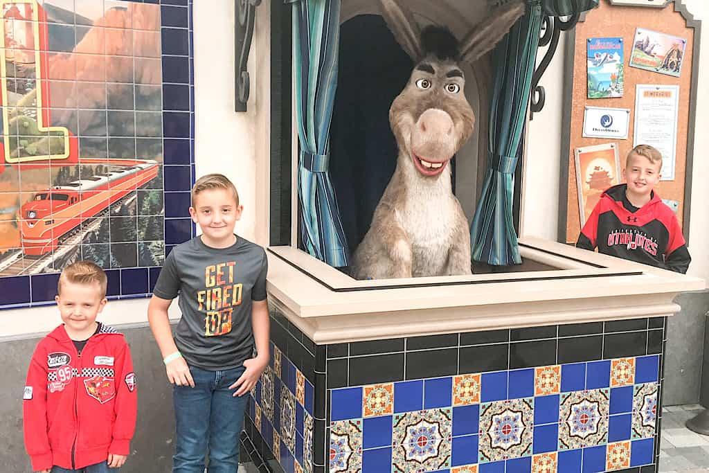 Kids at Universal Studios Hollywood