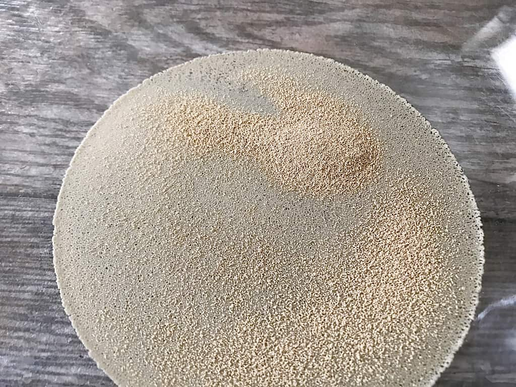 Yeast proofing in a mixing bowl
