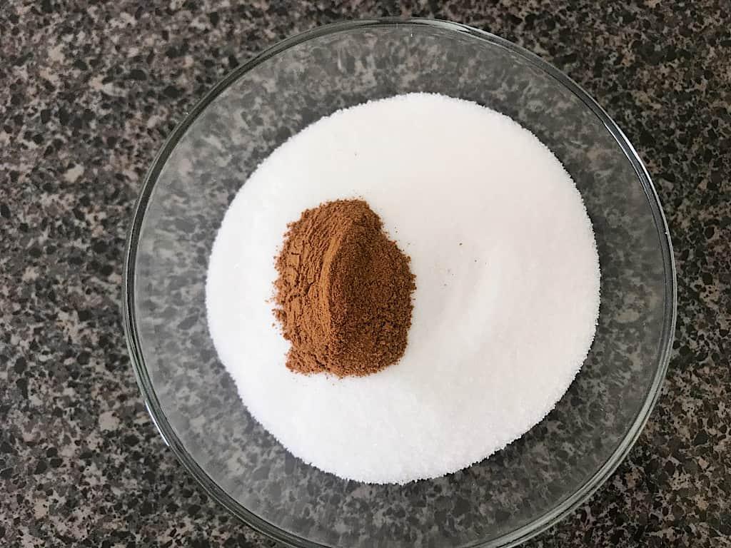 Cinnamon and sugar to coat churros