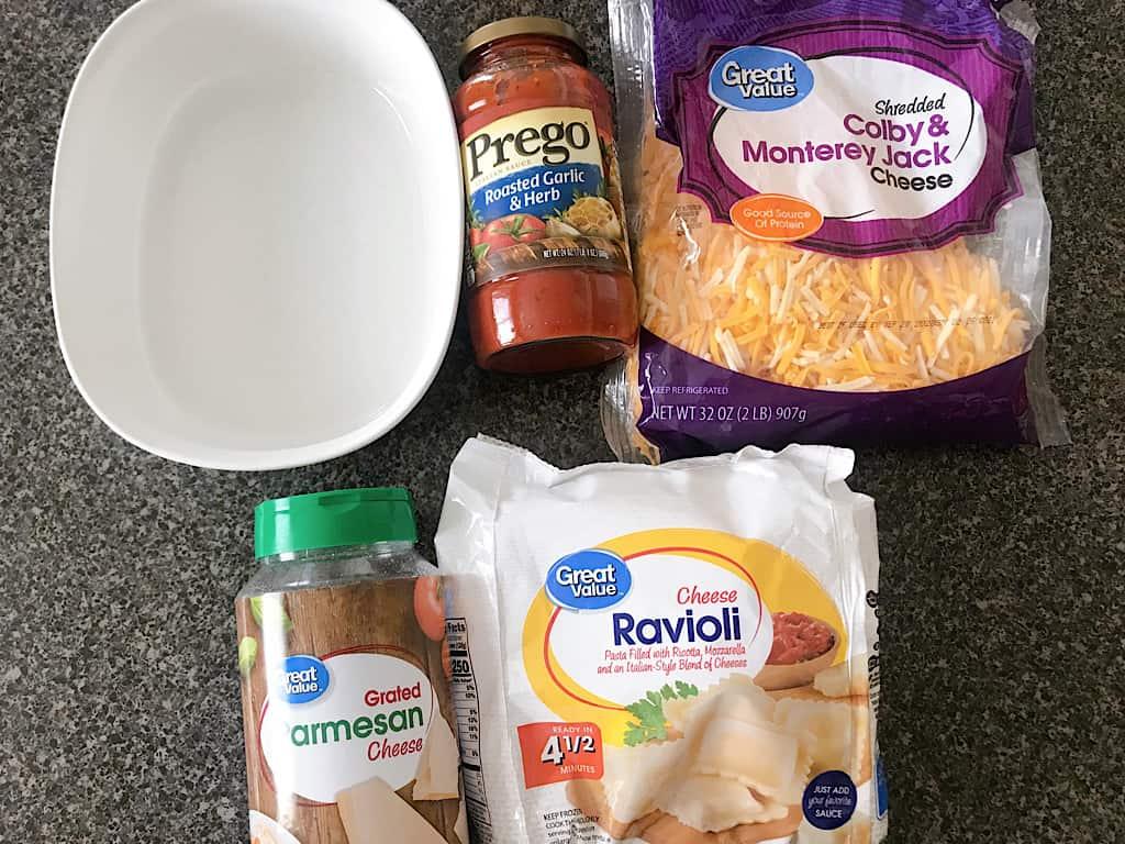 Ingredients for Easy baked ravioli