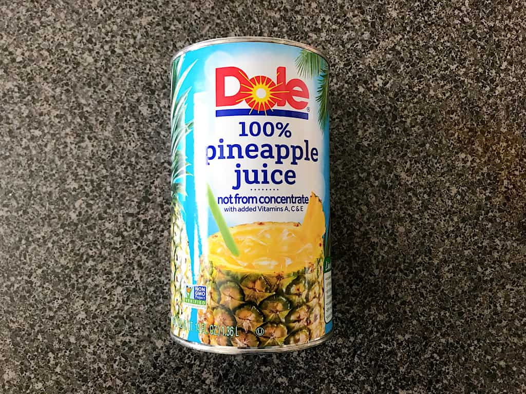 Pineapple juice for Dole Whip