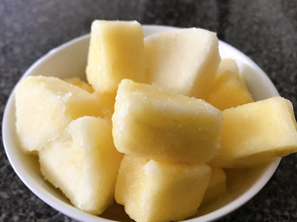 Frozen pineapple chunks