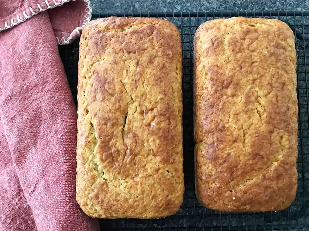 2 Loaves of Cake Mix Banana Bread