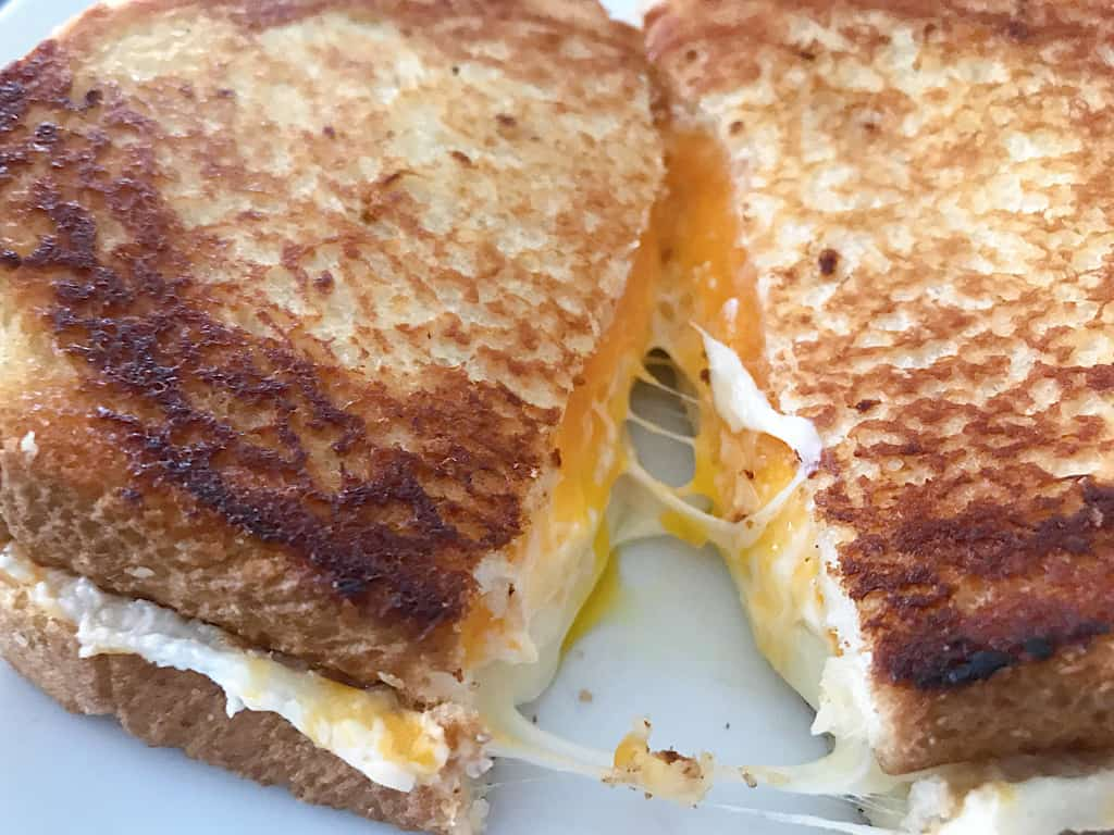 Sliced Grilled Cheese Sandwich